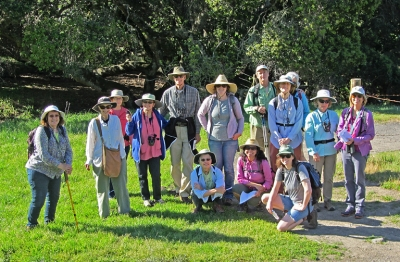 Field Trip Group on Mt. Burdell